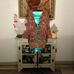 Size 2X sheer blouse